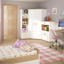 Load image into Gallery viewer, 4KIDS Corner Wardrobe with tall bookcase and cupboard (orange package) - 4052144P + 4053144P + 4051144P