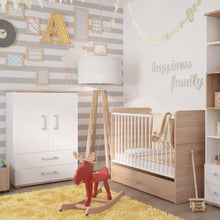 Load image into Gallery viewer, 4KIDS Cot in light oak and white high gloss