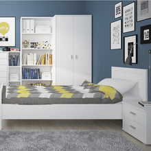 Load image into Gallery viewer, 4 You 3 door wardrobe (inc mirror) in Pearl White