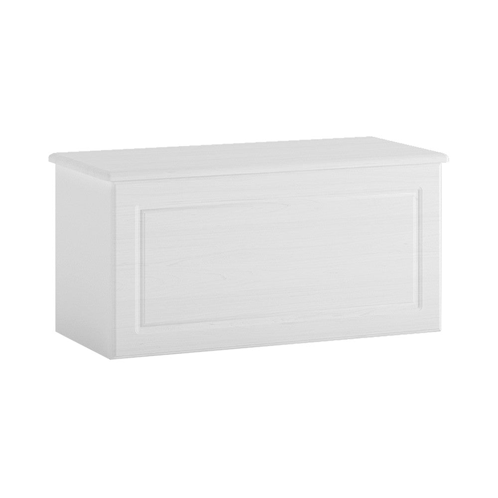 Hampshire Ottoman in white textured MDF and white melamine