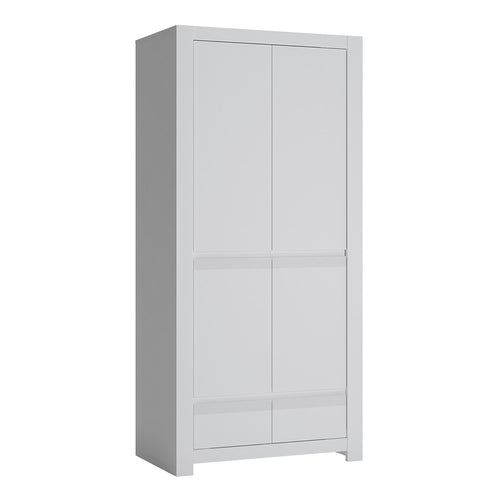 Novi 2 Door Wardrobe in Alpine White
