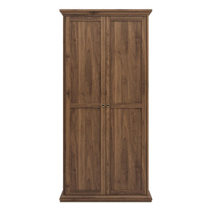 Paris Wardrobe with 2 Doors in Walnut