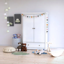 Load image into Gallery viewer, Paris Wardrobe with 2 Doors 1 Drawer 2 Shelves in White