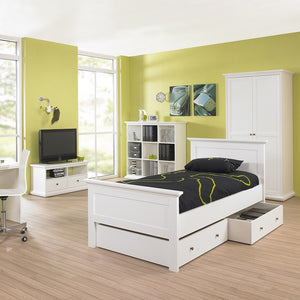 Paris Single Bed (90 x 200) in White