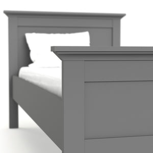 Paris Single Bed (90 x 200) in Matt Grey