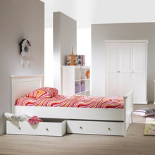 Load image into Gallery viewer, Paris Underbed Storage Drawer for Single Bed in White