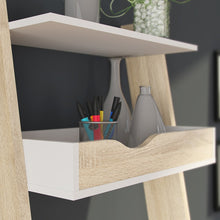 Load image into Gallery viewer, Oslo Leaning Desk in White and Oak