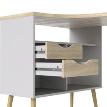 Load image into Gallery viewer, Oslo Desk 2 Drawer in White and Oak