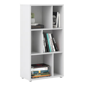 Maze Bookcase 2 Shelves in White