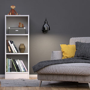 Basic Low Narrow Bookcase (2 Shelves) in White