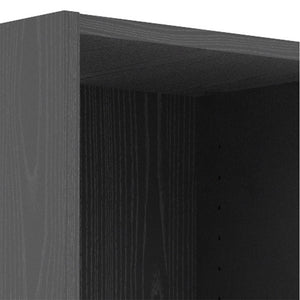 Basic Low Narrow Bookcase (2 Shelves) in Black Woodgrain