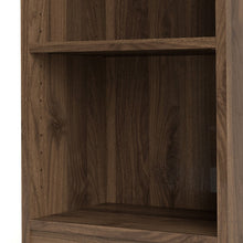 Load image into Gallery viewer, Basic Low Narrow Bookcase (2 Shelves) in Walnut