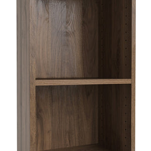 Basic Tall Narrow Bookcase (4 Shelves) in Walnut