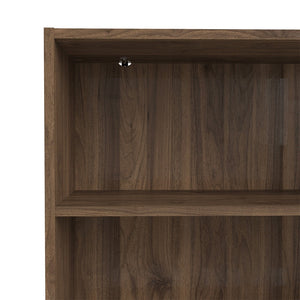 Basic Low Wide Bookcase (2 Shelves) in Walnut