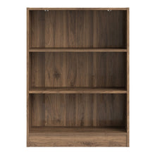 Load image into Gallery viewer, Basic Low Wide Bookcase (2 Shelves) in Walnut