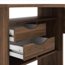 Load image into Gallery viewer, Function Plus Corner Desk 2 Drawers in Walnut