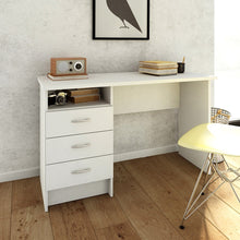 Load image into Gallery viewer, Function Plus Desk 3 Drawers in White