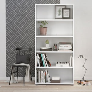 Prima Bookcase 4 Shelves in White