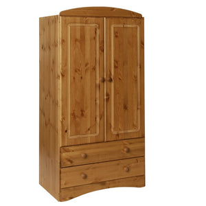 Scandi 2 Door 2 Drawer Wardrobe in Pine