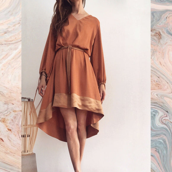 SHORT CHLOE DRESS - DUSTY ORANGE