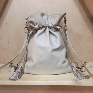 CREAM BACKPACK/TOTEBAG