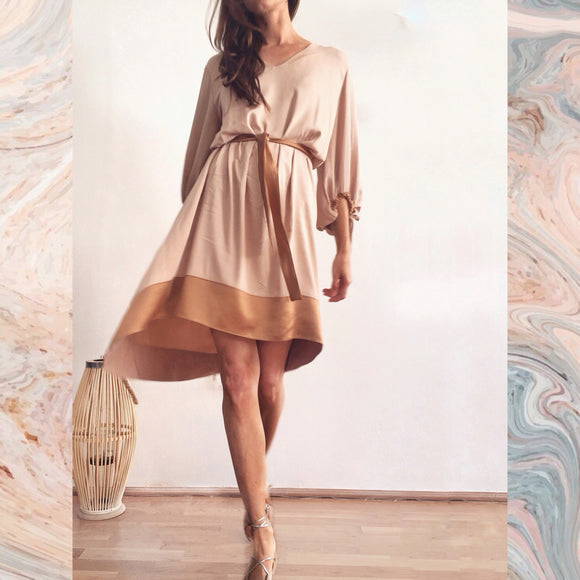 SHORT CHLOE DRESS - PORCELAIN BEIGE