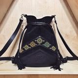 BLACK IKAT BACKPACK/TOTEBAG