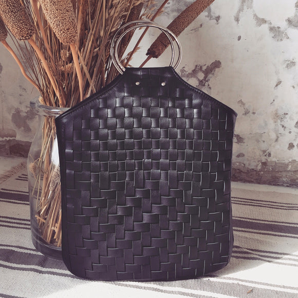 WOVEN BLACK O-RING BAG