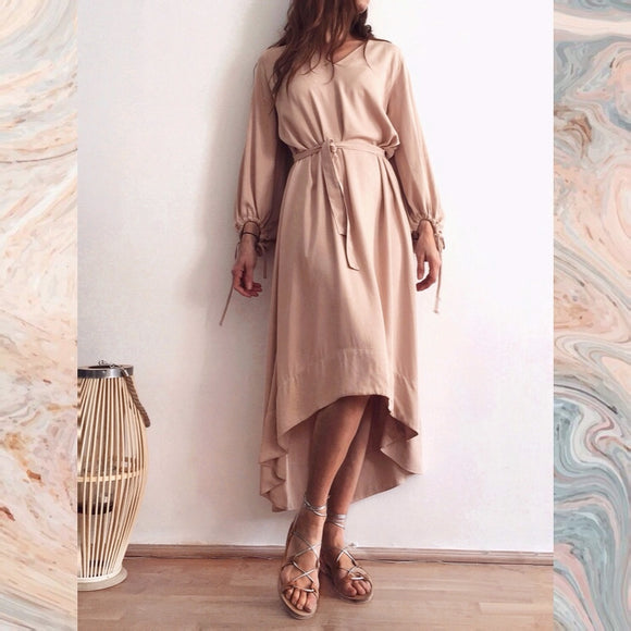 ZOE DRESS - PORCELAIN BEIGE