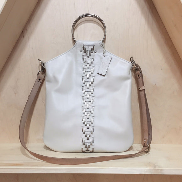 CREAM GEOMETRIC O-RING BAG