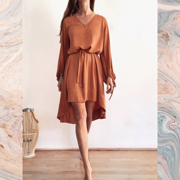 SHORT ZOE DRESS - DUSTY ORANGE