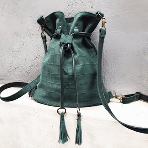 EMERALD BACKPACK/TOTEBAG