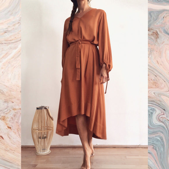 ZOE DRESS - DUSTY ORANGE