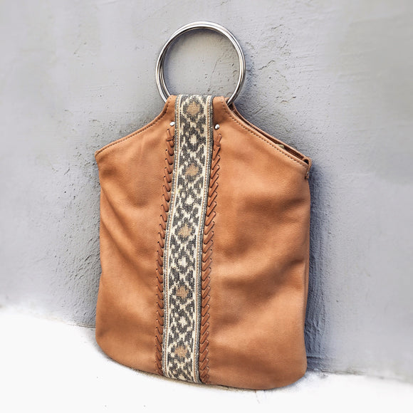 CINNAMON INDO-IKAT O-RING BAG
