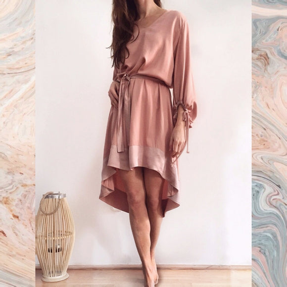SHORT CHLOE DRESS - MISTY ROSE