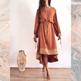 CHLOE DRESS - DUSTY ORANGE