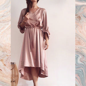 SOFT MALLOW SATIN DRESS