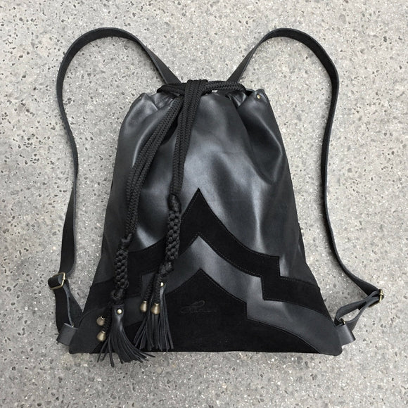 BLACK ORIENTAL BACKPACK