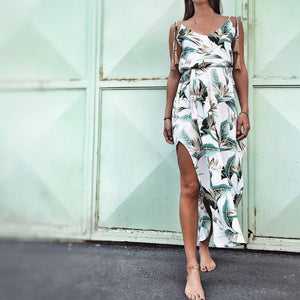 WHITE TROPICAL JUNE-DRESS