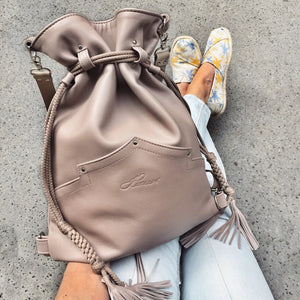 MAUVE BACKPACK/TOTEBAG
