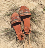 INDO-IKAT LEATHER SANDALS