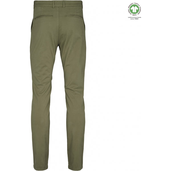 By Garment Makers The Organic Chino Pants Pants 2887 Oil Green