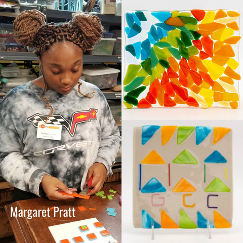 Margaret Pratt Fired Up! Glass fusing student