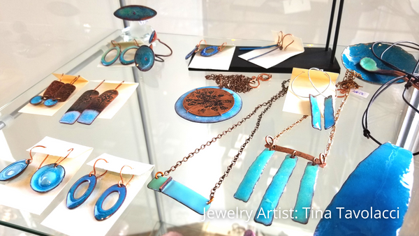 Spring jewelry collection including work by artist Tina Tavolacci