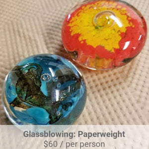 Paperweight Glassblowing Project