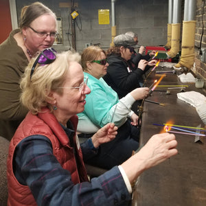 Students learn the art of flameworking