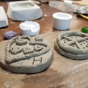 Clay molds for kiln casting