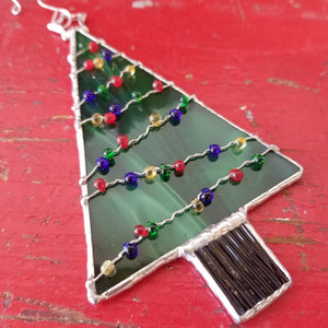 NEW! Stained Glass Christmas Tree Ornament