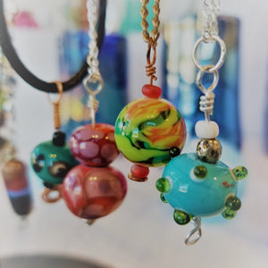 Flamework Bead Pendants