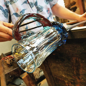 Adding a handle to a hand blown mug